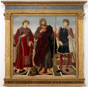 I santi Vincenzo, Jacopo ed Eustachio (Pala del Cardinale del Portogallo)