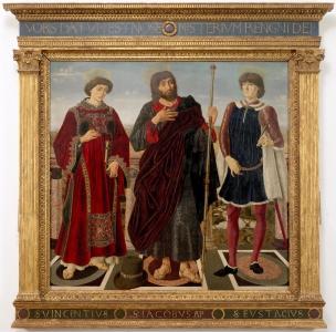 I santi Vincenzo, Jacopo ed Eustachio (Pala del Cardinale del Portogallo)